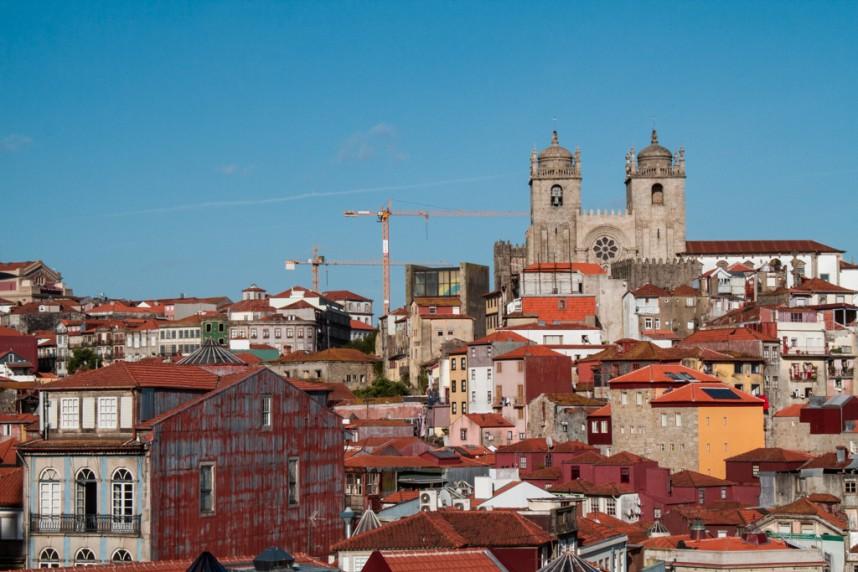 Vue de la ville et du ciel