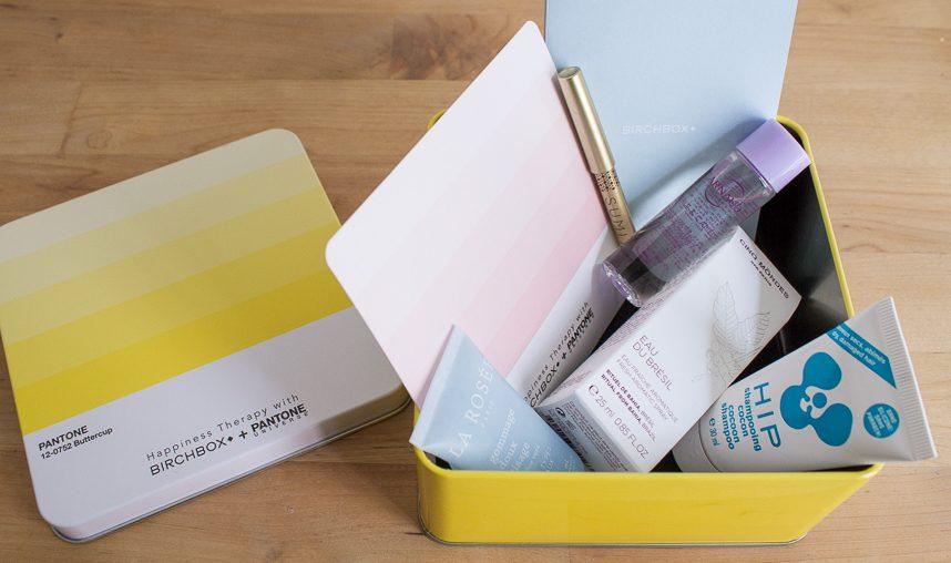 Birchbox X Pantone Happiness Therapy : le verdict